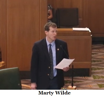 Rep. Marty Wilde, Democrat
